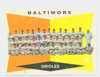 1960 Topps Baseball 494 Orioles Team Excellent