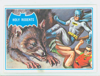 1966 Batman Blue Bat 35 Holy Rodents Fair to Good Logo