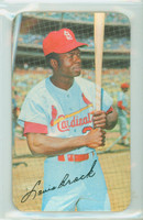 1970 Topps Baseball Supers 11 Lou Brock St. Louis Cardinals Excellent to Mint