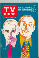 1968 TV Guide Feb 10 Smothers Brothers Wisconson edition Excellent - No Mailing Label  [Lt wear on cover, ow very clean]