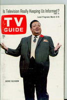 1968 TV Guide Mar 9 Jackie Gleason Pittsburgh edition Near-Mint - No Mailing Label  [Very light wear, ow very clean example]