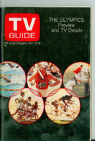 1968 TV Guide Oct 12 Olympics Preview Cleveland edition Excellent - No Mailing Label  [Lt wear and discoloratino on cover, ow clean]