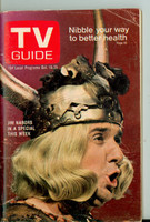 1968 TV Guide Oct 19 Jim Nabors Cleveland edition Very Good - No Mailing Label  [Sl loose at the staples, wear and creasing on cover, contents fine]