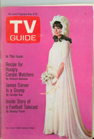 1968 TV Guide Nov 9 Barbara Feldon of Get Smart Northern New England edition Very Good - No Mailing Label  [Wear on cover, lt moisture ring, staple rust; contents fine]