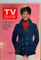 1968 TV Guide Dec 14 Diahann Carroll of Julia Cleveland edition Good to Very Good - No Mailing Label  [Small cover tear, wear and creasing; contents fine]