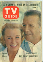 1960 TV Guide Sep 17 Dick Powell and June Allyson Oregon State edition Very Good to Excellent - No Mailing Label  [Wear on binding and cover, contents fine]