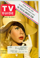 1964 TV Guide Nov 28 Elizabeth Montgomery of Bewitched (First Cover) Pittsburgh edition Very Good to Excellent  [Lt wear on cover, ow clean; contents fine]