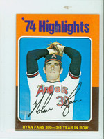 1975 Topps Mini Baseball 5 Nolan Ryan HL California Angels Excellent