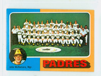 1975 Topps Mini Baseball 146 Padres Team Excellent to Mint