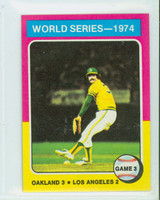 1975 Topps Mini Baseball 463 WS Game 3 Excellent to Mint
