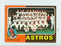 1975 Topps Mini Baseball 487 Astros Team Excellent to Mint