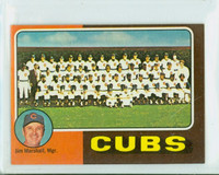 1975 Topps Mini Baseball 638 Cubs Team Excellent to Mint