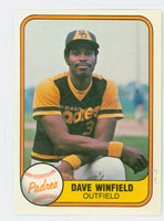 1981 Fleer Baseball 484 Dave Winfield San Diego Padres Near-Mint to Mint