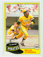 1981 Topps Baseball 380 Willie Stargell Pittsburgh Pirates Near-Mint to Mint