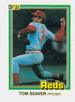 1981 Donruss Baseball 422 Tom Seaver Cincinnati Reds Near-Mint to Mint