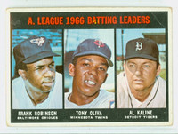 1967 Topps Baseball 239 AL Batting Leaders Fair to Poor