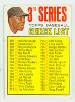 1967 Topps Baseball 191 b Checklist Three TOM  San Francisco Giants Good to Very Good