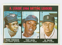 1967 Topps Baseball 239 AL Batting Leaders Very Good