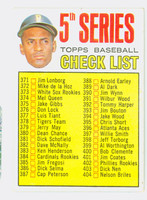 1967 Topps Baseball 361 Checklist Five Pittsburgh Pirates Very Good