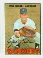 1967 Topps Baseball 375 Jake Gibbs New York Yankees Excellent