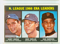 1967 Topps Baseball 234 NL ERA Leaders Excellent to Excellent Plus