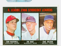 1967 Topps Baseball 237 AL Strikeout Leaders Excellent to Excellent Plus
