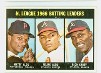 1967 Topps Baseball 240 NL Batting Leaders Excellent to Excellent Plus