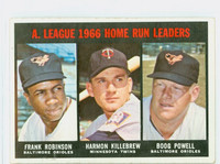 1967 Topps Baseball 243 AL HR Leaders Excellent to Excellent Plus