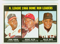 1967 Topps Baseball 244 NL HR Leaders Excellent to Excellent Plus
