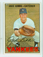 1967 Topps Baseball 375 Jake Gibbs New York Yankees Excellent to Excellent Plus