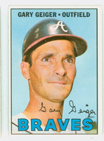1967 Topps Baseball 566 Gary Geiger High Number Atlanta Braves Excellent to Mint