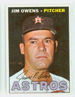 1967 Topps Baseball 582 Jim Owens High Number Houston Astros Excellent to Mint