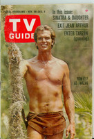 1966 TV Guide Nov 26 Ron Ely as Tarzan Colorado edition Very Good to Excellent - No Mailing Label  [Wear and creasing on cover, contents fine]