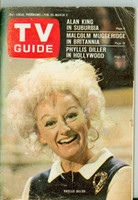 1967 TV Guide Feb 25 Phyllis Diller Eastern New England edition Good to Very Good - No Mailing Label  [Wear and creasing on cover, wear on binding, spotting; contents fine]