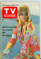 1967 TV Guide Mar 11 Dorothy Malone of Peyton Place Eastern Illinois edition Excellent to Mint - No Mailing Label  [Very clean example]