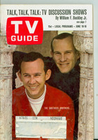 1967 TV Guide Jun 10 Smothers Brothers Wisconsin edition Excellent  [Wear and scuffing on cover, ow clean]