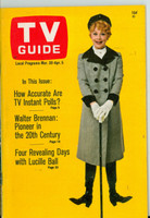 1968 TV Guide Mar 30 Lucille Ball Eastern Illinois edition Near-Mint - No Mailing Label  [Very clean example]