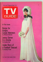 1968 TV Guide Nov 9 Barbara Feldon of Get Smart Eastern Illinois edition Very Good to Excellent - No Mailing Label  [Wear and creasing on cover, contents fine]