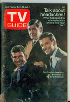 1969 TV Guide Mar 29 The Name of the Game Kentucky edition Very Good to Excellent - No Mailing Label  [Wear and scuffing on cover; contents fine]