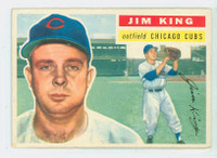 1956 Topps Baseball 74 Jim King Chicago Cubs Excellent Grey Back