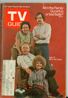 1971 TV Guide May 29 Cast of All in The Family (First Cover) Minnesota State edition Very Good to Excellent  [Sl loose at staples, lt wear on cover; contents fine]
