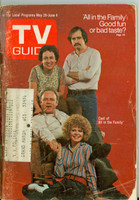 1971 TV Guide May 29 Cast of All in The Family (First Cover) Wisconson edition Good to Very Good  [Very loose at staples, wear and sl fraying on cover, contents fine]