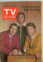 1971 TV Guide August 28 Monday Night Football Iowa edition Good to Very Good - No Mailing Label  [Sl loose at staples, wear on cover; contents fine]