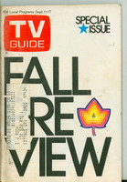 1971 TV Guide September 11 Fall Preview Oregon State edition Excellent  [Wear and scuffing on cover; contents fine]