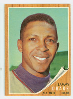 1962 Topps Baseball 162 Sammy Drake New York Mets Excellent Green