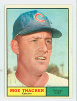 1961 Topps Baseball 12 Moe Thacker Chicago Cubs Good to Very Good