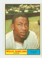 1961 Topps Baseball 15 Willie Kirkland Cleveland Indians Good to Very Good