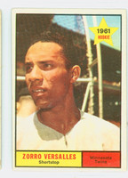 1961 Topps Baseball 21 Zoilo Versalles ROOKIE Minnesota Twins Fair to Poor