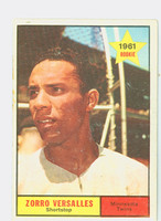 1961 Topps Baseball 21 Zoilo Versalles ROOKIE Minnesota Twins Good to Very Good