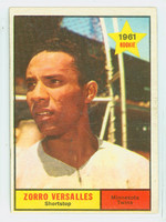 1961 Topps Baseball 21 Zoilo Versalles ROOKIE Minnesota Twins Very Good